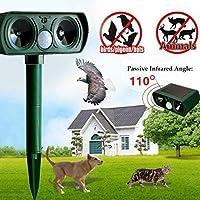 Ouguan 1x Repelente ultrasónico, Drillpro Pest Repeller Solar ultrasónico para Animales Gato, Perro, Zorro, Ciervo, roedores Repeller para Granja
