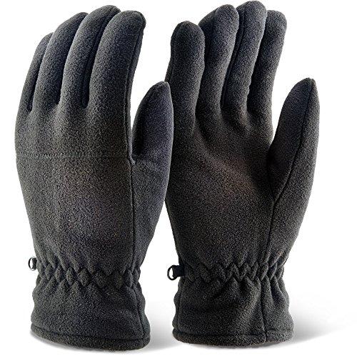 Click THFLGBL Gants en polaire Thinsulate Noir