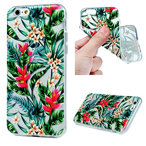 iPhone 6S Cover Silicone iPhone 6, Custodia Morbida TPU Flessibile Gomma - MAXFE.CO Case Ultra Sottile Cassa Protettiva per iPhone 6/6S 4.7 Pollici - Fiore
