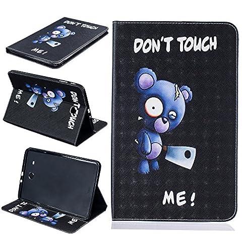 BONROY® Tablet Samsung Galaxy Tab E SM-T560 9.6 Zoll Hülle Etui Case Mode gemalt Muster Telefon-Kasten mit Standfunktion Karteneinschub und Magnetverschluß für Samsung Galaxy Tab E SM-T560 9.6 Zoll