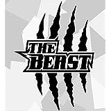 Ms Car Sticker The Beast Beastkrallen Aufkleber Konturgeschnitten In 2 Versch Größen 10 Dunkelgrau Matt 23x19cm Auto