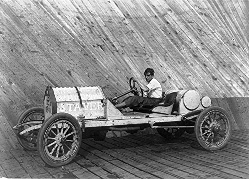 Racecar C1911. /Nracecar Driver Harry L. Curran In A Staver Automobile In The Autodrome at Riverview Exposition Park In Chicago Illinois. Photograph C1911. Kunstdruck (60,96 x 91,44 cm) -