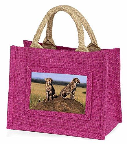 ine Mädchen rosa Einkaufstasche Weihnachtsgeschenk (Geparden-print-pink)