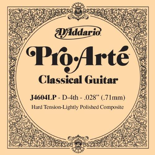 D'Addario J4604LP Pro Arte Lightly Polished Klassik D Einzelsaite Hard Tension