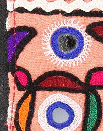 Borsa in cotone Rajrang antico Pochette vintage ricamati a mano per le donne Multi Color 01
