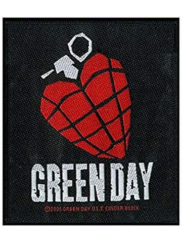 Green Day Demolicious - Green Day Patch Heart Grenade 9 x