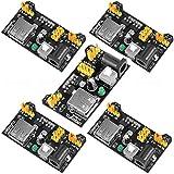 Alphabeeboo 3.3V 5V Netzteil Power Supply Modul für Arduino MB102 Lötmittelbrett (Packung mit 5 Stück)