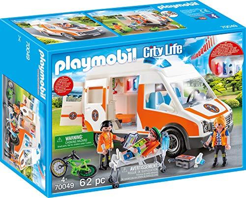 PLAYMOBIL 70049 City Life Rettungswagen mit Licht und Sound, bunt