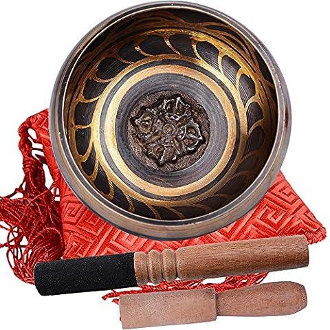 (3.9 pouces )Bol Chantant Tibétain Nepol + 2PCS Maillet Striker