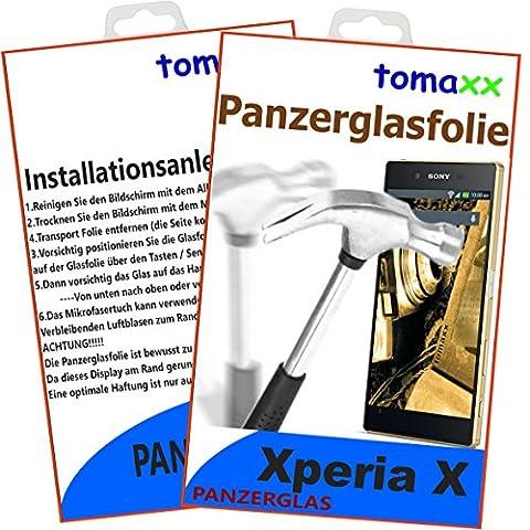 Sony Xperia X Glas Glasfolie 9H Panzerglas Panzerglasfolie Hartglas (bewusst