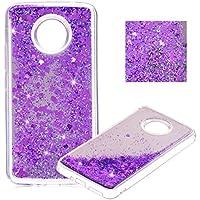 ZCRO Flüssig Case für Moto E4 Plus Hülle,Handyhülle Flüssig Glitzer Liquid Glitter Bling Schutzhülle Case Transparent Weich TPU Silikon Spiegel Mirror Back Case