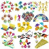 iBaseToy Party Favor Spielzeug-Sortiment 120er-Packung, Party Belohnungen für Kinder, Geburtstagsfeier, Karnevalspreise, Pinata-Füllstoffe, Massenspielzeug, Schatzkiste,...