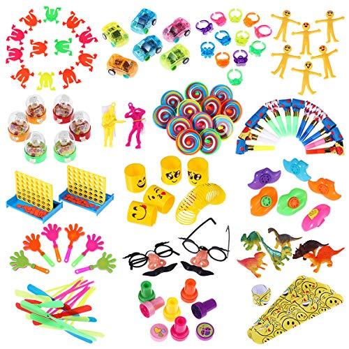 iBaseToy Party Favor Spielzeug-Sortiment 120er-Packung, Party Belohnungen für Kinder, Geburtstagsfeier, Karnevalspreise, Pinata-Füllstoffe, Massenspielzeug, Schatzkiste, Goodie-Bag-Füllstoffe -