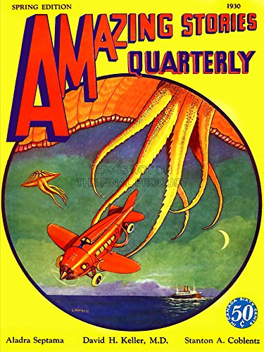 Wee Blue Coo LTD Magazine 1930 Aerial Tentacles Art Canvas Print (1930-magazin)