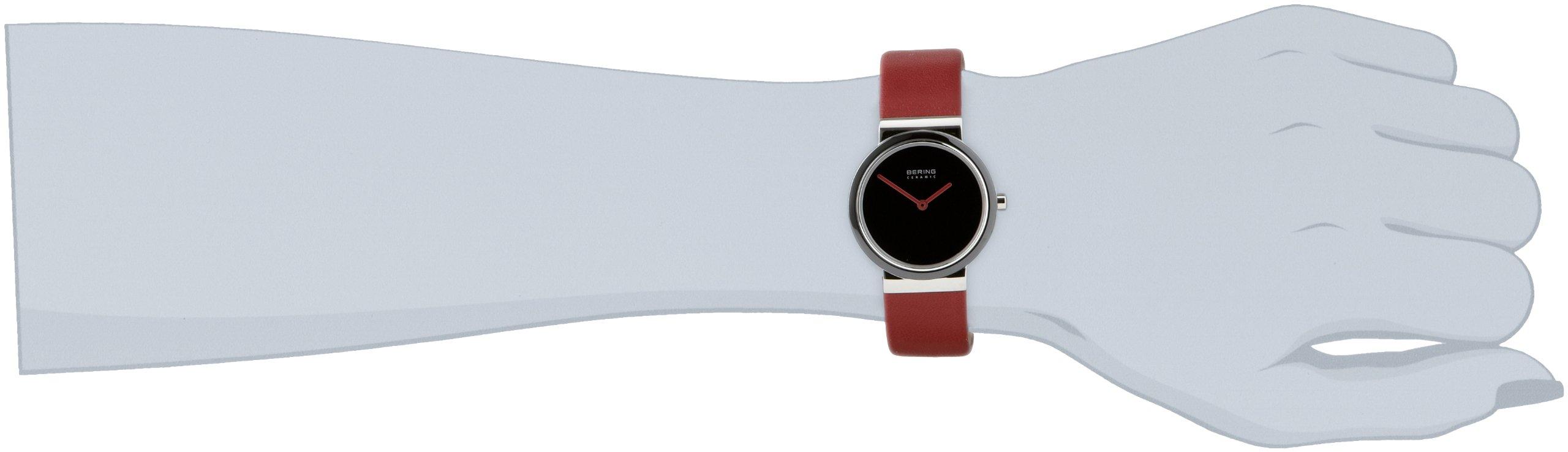 Bering Ceramic – Reloj analógico de mujer de cuarzo con correa de