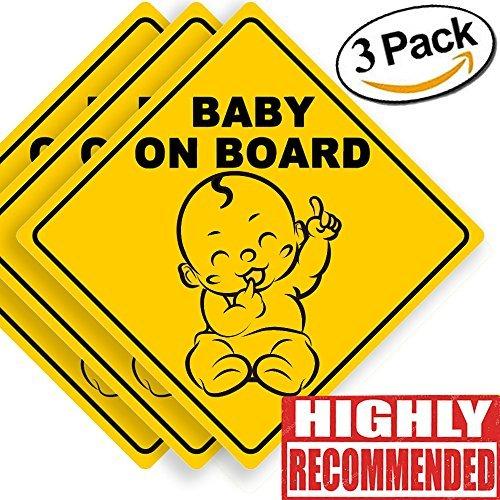 Innovative Bay Aufkleberschild, Baby-Aufkleber, Baby-Autoaufkleber, Baby-Aufkleber, Baby-Ankündigungsbrett, US-Außenministerium für den Transport empfehlen Farbe und Form, 12,7 x 12,7 cm