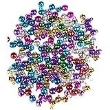 Glöckchen, Weihnachtsschmuck, 6 mm, viele Farben, 100 Stück