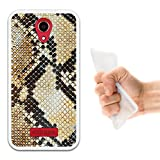 WoowCase Doogee X3 Hülle, Handyhülle Silikon für [ Doogee X3 ] Tier Pythonschlangedruck Handytasche Handy Cover Case Schutzhülle Flexible TPU - Transparent