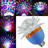 House Of Sensation Latest Design Led Crystal Lotus Magic Ball, Rotating Strobe, Multi Color For Disco Party,