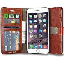 iPhone 6S móvil, pasonomi® [Outdoor] [Heavy Duty] [Dual Layer] de ultra fina Carcasa Case Cover con Soporte para Apple iPhone 6(2014)/iPhone 6S (2015) Wallet-Braun