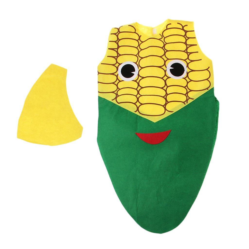 Sharplace Traje Disfraz Maíz Vegetal Diseño de Cubierta Medio Cuerpo Sombrero Vegetal Actuación Atractivo Niños Unisexo