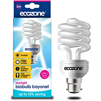 Glass iBoutique IB-SADB001-4PK Daylight Energy Saving Light Bulb B22 Bayone...