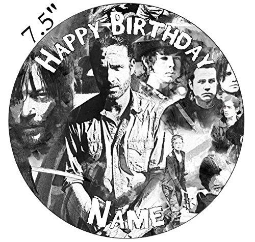 Walking Dead Inspiriert Essbarer Zuckerguss Kuchen Topper vorgeschnittenen-Personalisieren bei die (Review Bestellung) Abschnitt