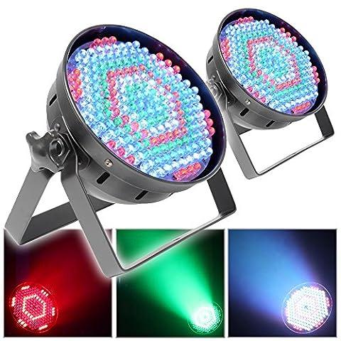 2x PAR 64 Can Wall Wash Uplighter LED RGB DJ Disco Event Show Light