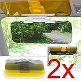 EMOTREE 2x Auto Blendschutz Sonnenschutz Nachtsicht Sichtschutz Sonnenblende Sonnenbrille Tag und Nacht Sichtschutz