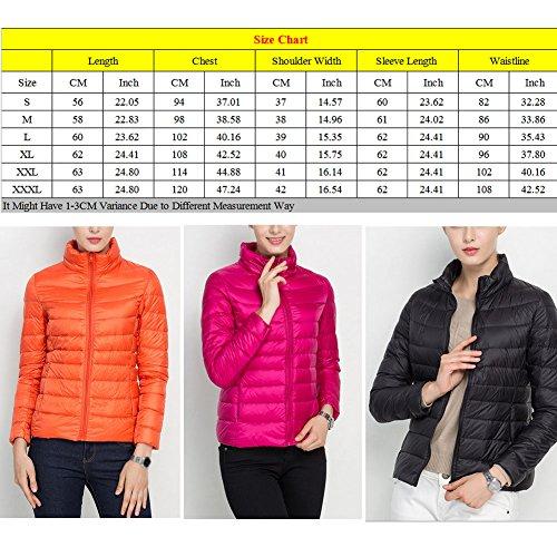 Laixing Alta qualità Women's Packable Stand Collar Ultra Light Weight Short Down Jacket Women Coats Orange