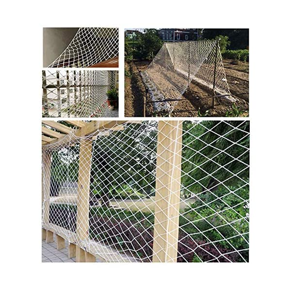 """Protective Netting,Balcony Safety Baby Banister Child Stair Stairs Dog Rail Pet Mesh Net Railing Guard Block for Gate Kids Lacrosse Softball Archery Netted Golf Ball Goal Backstop Net Netting Nets  ★Material of the kids protective netting: pure polyester. ★Mesh size*rope diameter: 8cm*6mm(3""""*15/64) , 8cm*8mm(3""""*5/16).Length*width: please make purchase according to your actual needs.We have any other size (rope diameter, mesh, length * width) rope net, support customization.If you have any questions or needs, please contact us. ★Multi-use protection net:family balcony and railing balcony stairs safety net banister stair anti-cat climbing, anti-high fall and other intensive protection; wall ,home, theme party hotel, guesthouse, cafe, bookshop, restaurant, decoration,hanging ect. 7"""
