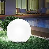 Vetrineinrete® Lampada a sfera da terra con picchetto per esterno illuminazione per giardino luce a palla decorativa con portalampada per lampadine led E27 23510 A95