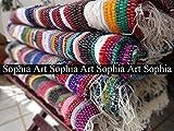 Sophia Hand bevorstand Flickenteppich, Fußmatte, dekorative Yoga Matte, Vintage Überwurf, handgefertigt Sari handgewebte Chindi Durrie, multicolor Flickenteppich, Indien