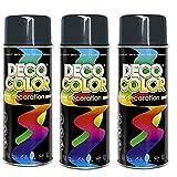 3er Sparpack DC Lackspray glänzend 400ml nach RAL freie Farbauswahl (3 Dosen in anthrazit glanz RAL 7016)