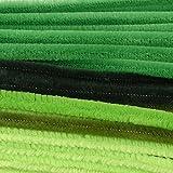 Vaessen Creative 1601-006 Pfeifenreiniger zum Basteln und Dekorieren, Cheniulle, Grün, 30 x 0.8 x 0.1 cm, 50-Einheiten