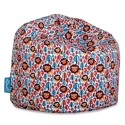 Lounge pug®, poltrona sacco per banbini, pouf, motivo per bambini - leone