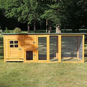 Zooprimus Hühnerstall Maxi 149 Geflügel-Auslauf - Flexi - Stall für Außenbereich (für Kleintiere: Hühner, Geflügel, Vögel, Enten usw.) (Stall Flexi mit Extra Auslauf)