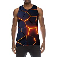 TUONROAD Homme Débardeur 3D Été Tank Top Décontracté Gilet sans Manche Gym Fitness Sport T-Shirt S-XXL