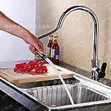 BBSLT Cobre plomo 360 grados rotación caliente y fría agua del grifo para lavabo monomando mezcladora pull