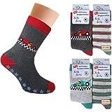 4 pares de calcetines térmicos para niño con ABS - Calcetines de rizo para niños