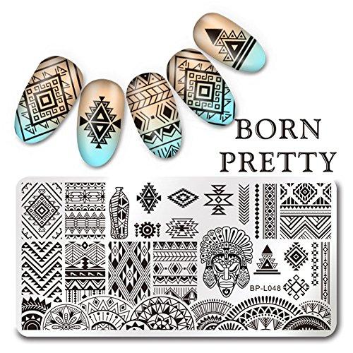 born-pretty-plaque-de-stamping-rectangulaire-nail-art-image-ethnique-bp-l048