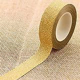 display08Rouleau de ruban adhésif brillant pour décoration 10m doré