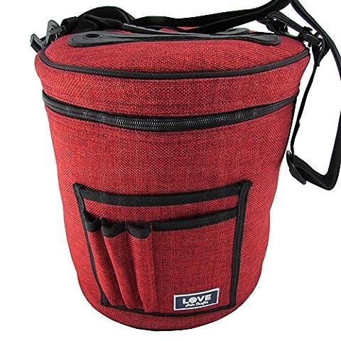 Sac pour fil à tricoter et laine stockage. Portable, léger et facile à transporter. Fil à tricoter/Crochet fil Support avec poches pour accessoires et fentes sur le dessus pour protéger et éviter s'emmêler