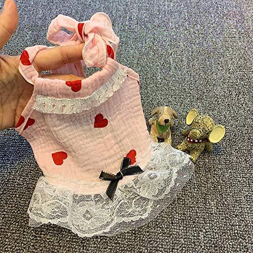 Kostüm Rosa Große Bär - L Pet supplies Teddy Rock Hund Kleidung Frühling und Sommer als Bär Bomei Katze Haustier Kostüm Sommer Prinzessin Kostüm Hundekleidung Rosa