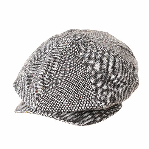 0ef1fcf261d3c WITHMOONS Sombreros Gorras Boinas Bombines Newsboy Hat Wool Felt Simple  Gatsby Ivy Cap SL3525 (Brown