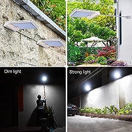 2 Pezzi Luce Solare 42 LED Lampada con Sensore di Movimento Wireless Lampade da parete 6000K bianco Luci Solari Esterno Impermeabile Energia Solare per Muro, Giardino, Terrazzino, Cortile