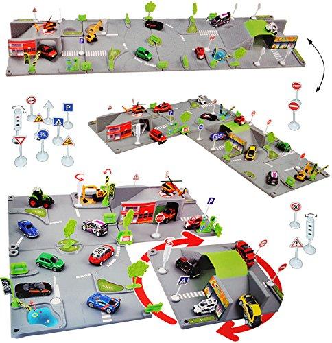XL Komplettset: 3-D Spielmatte Straße -