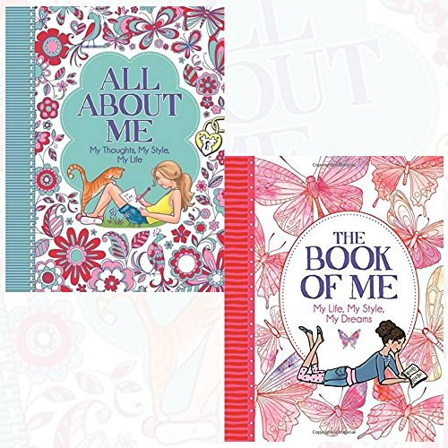 all about me and the book of me 2 books collection set by ellen bailey - my thoughts,my style,my life, my life, my style, my dreams
