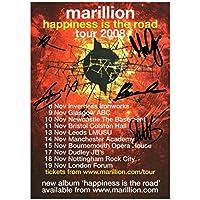 Marillion Signiert Autogramme 21cm x 29.7cm Plakat Foto