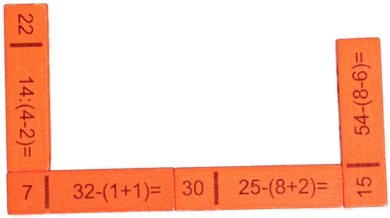 Rechendomino III 40 Teile , 20 x 16 x 3 cm NEU Rechenspiel Mathe lernen Denkspiel 8